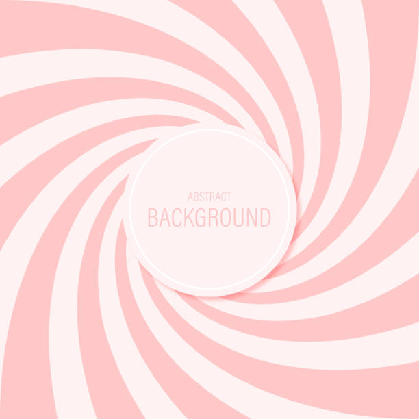 illustrazioni stock, clip art, cartoni animati e icone di tendenza di candy abstract background spiral pattern sweet pink vector design. - fragole
