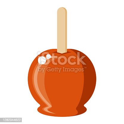 istock Candy Apple Icon on Transparent Background 1282044522