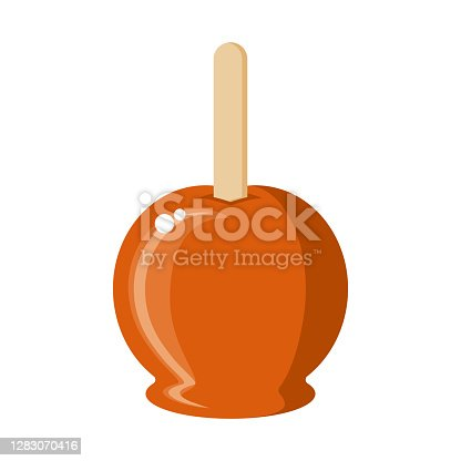 istock Candy Apple Icon on Transparent Background 1283070416