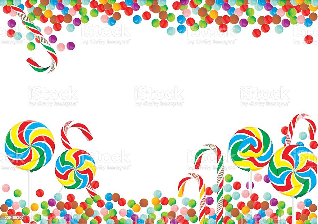 candy background lollies in vector form stock vector art