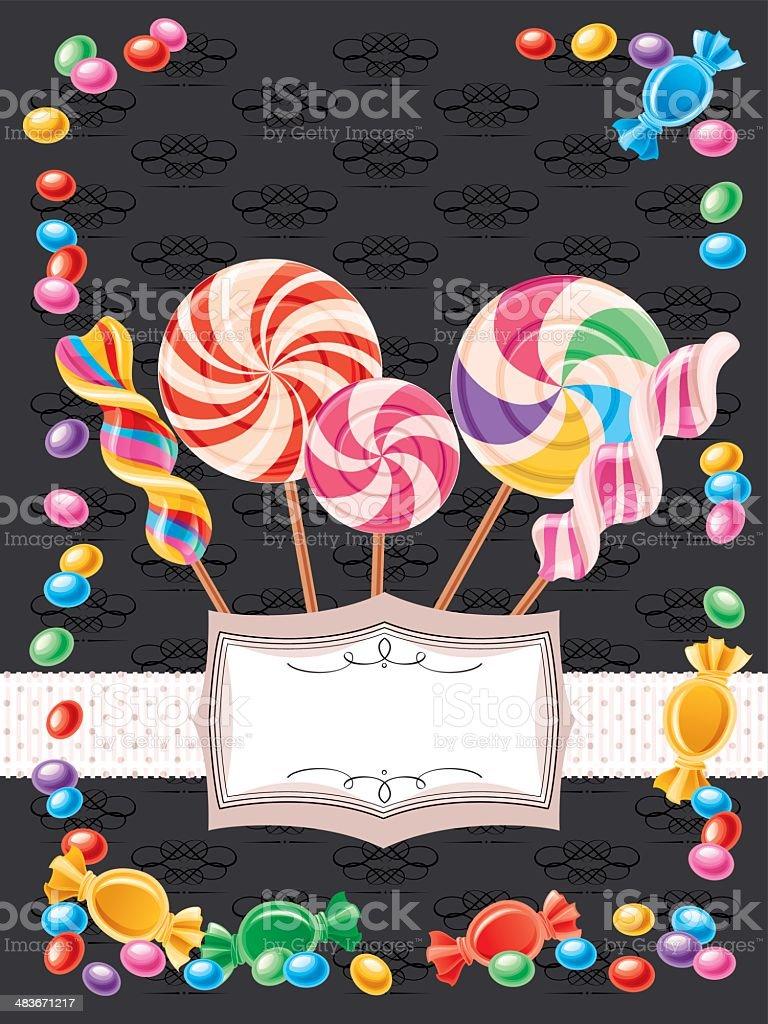 Candy Background (Vertical) vector art illustration