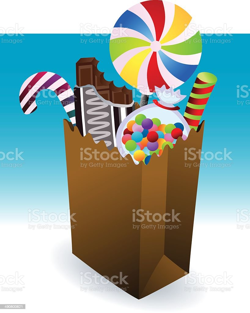 Candy Bag royalty-free candy bag stock vector art & more images of bag