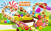 Candy Board Game for children and kids - journey through the sweet Candy World