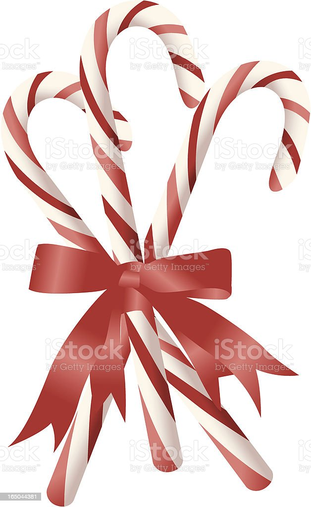 candy cane 1 royalty-free stock vector art