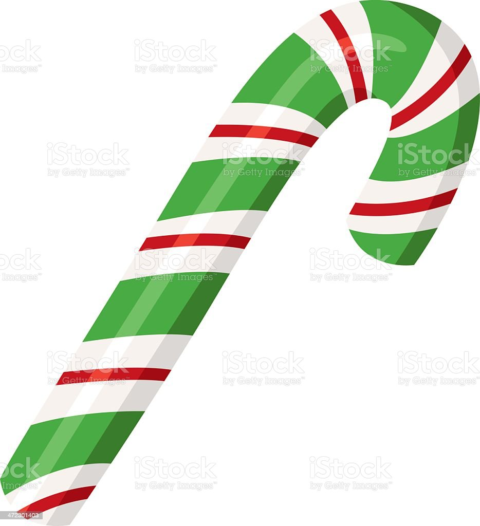 Candy cane 2 royalty-free stock vector art