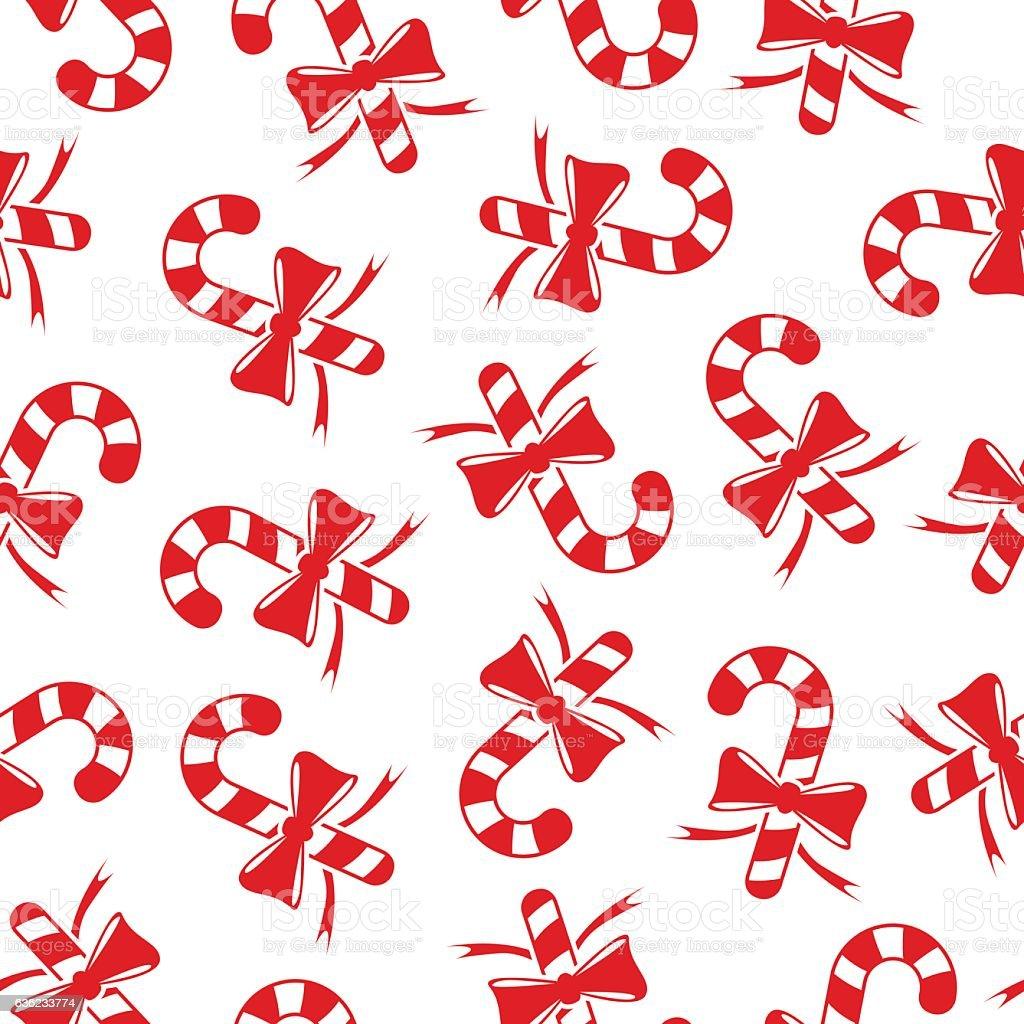 Candy cane background vector art illustration