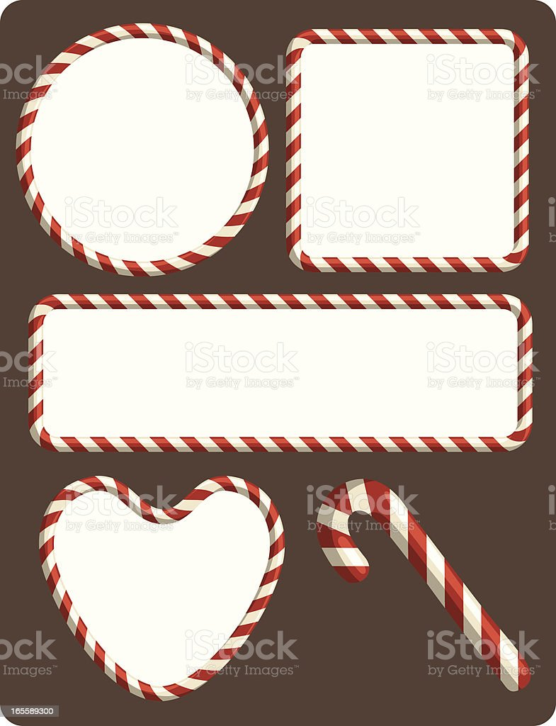 Candy Cane borders vector art illustration
