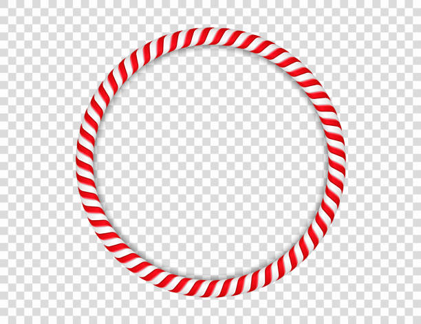 Candy Cane Circle Circle made of candy cane, vector eps10 illustration candy borders stock illustrations