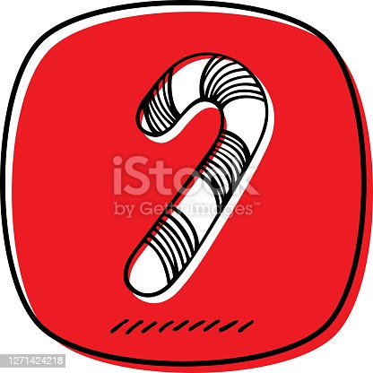 istock Candy Cane Doodle 2 1271424218