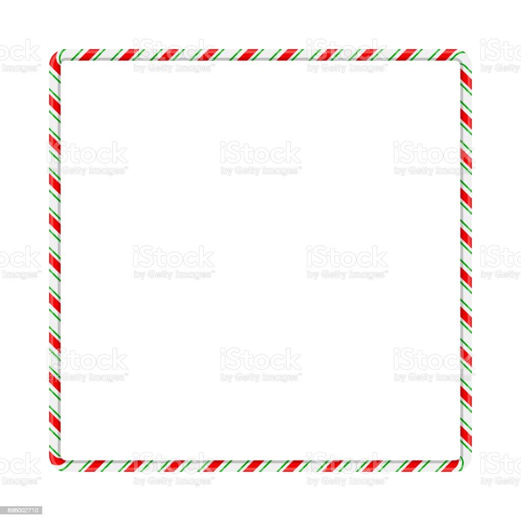 Frontera De Marco Caña De Caramelo Para El Diseño De Navidad Aislado ...