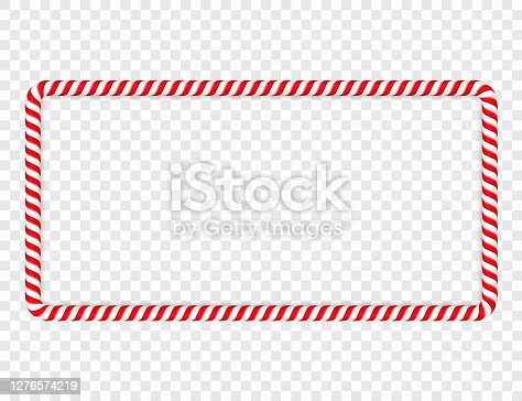 istock Candy Cane Frame 1276574219