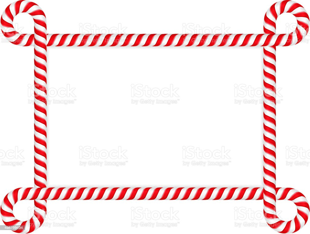 Candy Cane Frame Stock Vector Art & More Images of 2015 498759434 ...