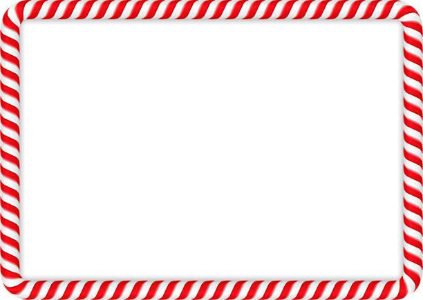 candy cane frame - 有邊框的 幅插畫檔、美工圖案、卡通及圖標