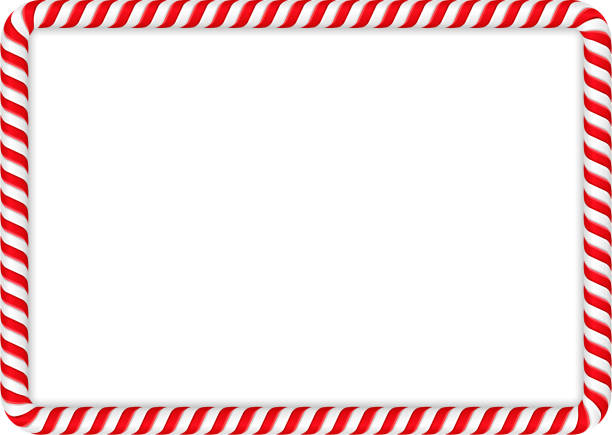 Candy Cane Frame Frame made of candy cane, vector eps10 illustration candy patterns stock illustrations