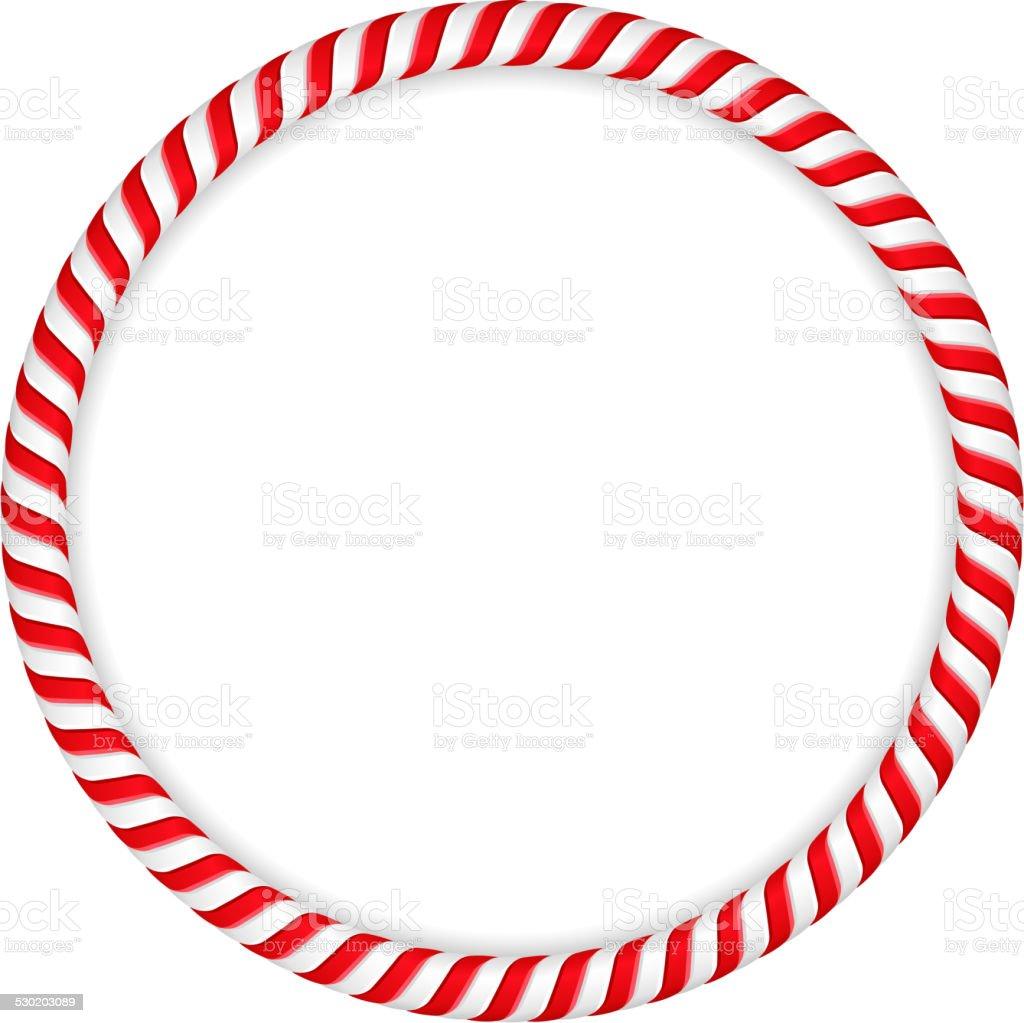 Candy Cane Frame vector art illustration
