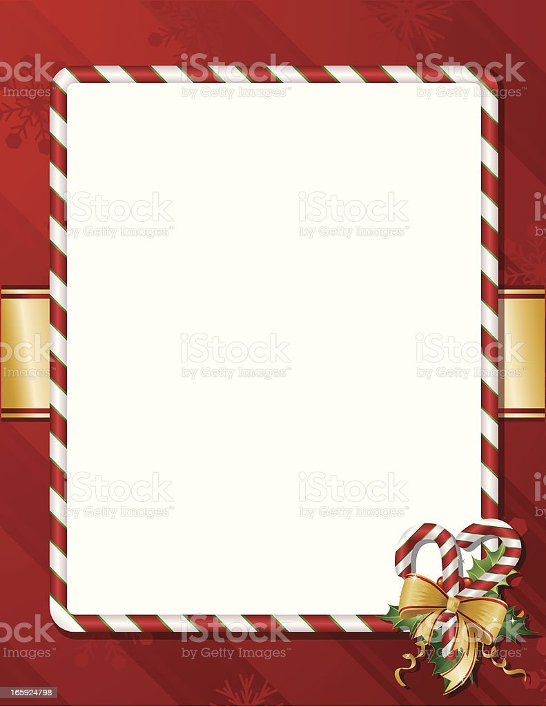 Candy Cane Holiday Background Vertical Royalty Free Stock Vector Art
