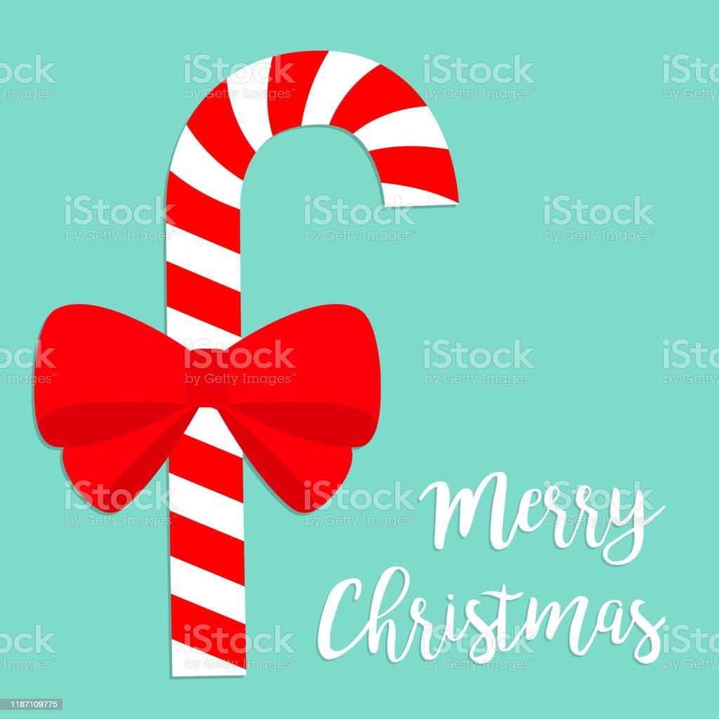 candy cane merry christmas cute cartoon red white peppermint stick vector id1187109775