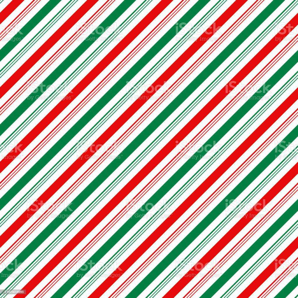 Candy Cane Stripes Seamless Pattern Stock Illustration - Download Image Now  - iStock