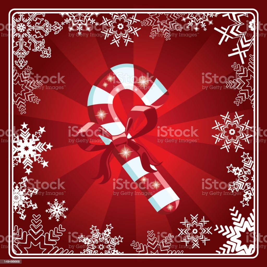 Candy Cane royalty-free stock vector art