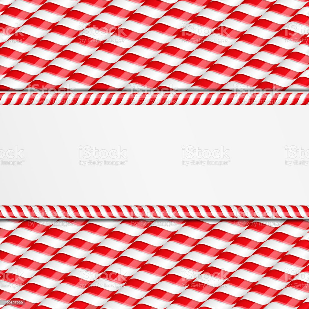 Candy Canes Background vector art illustration