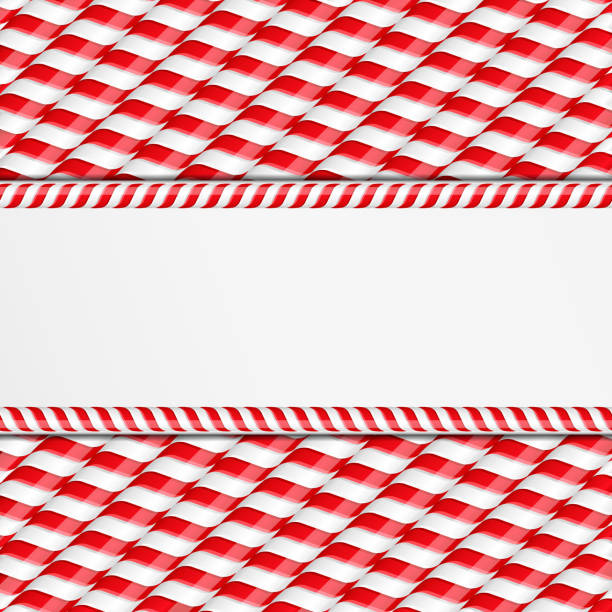 Candy Canes Background Background made of candy canes with place for your text, vector eps10 illustration candy borders stock illustrations