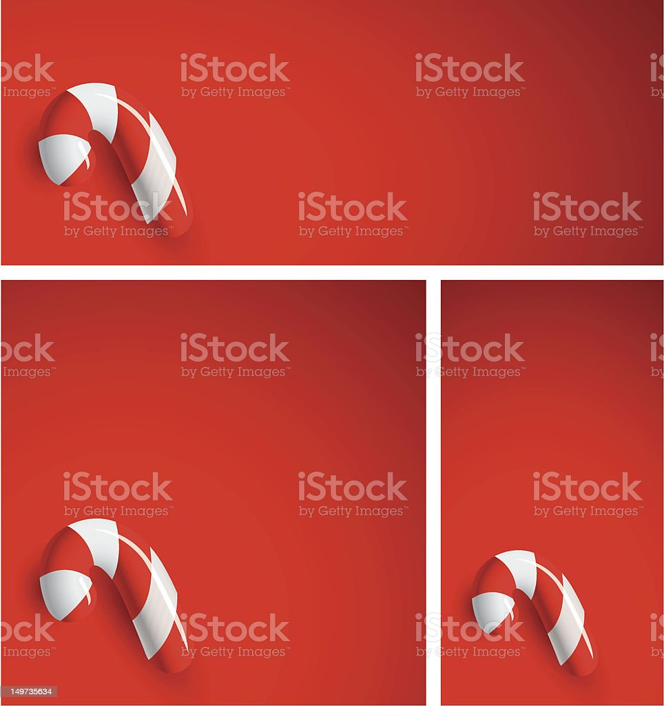 Candy Canes on Red royalty-free stock vector art