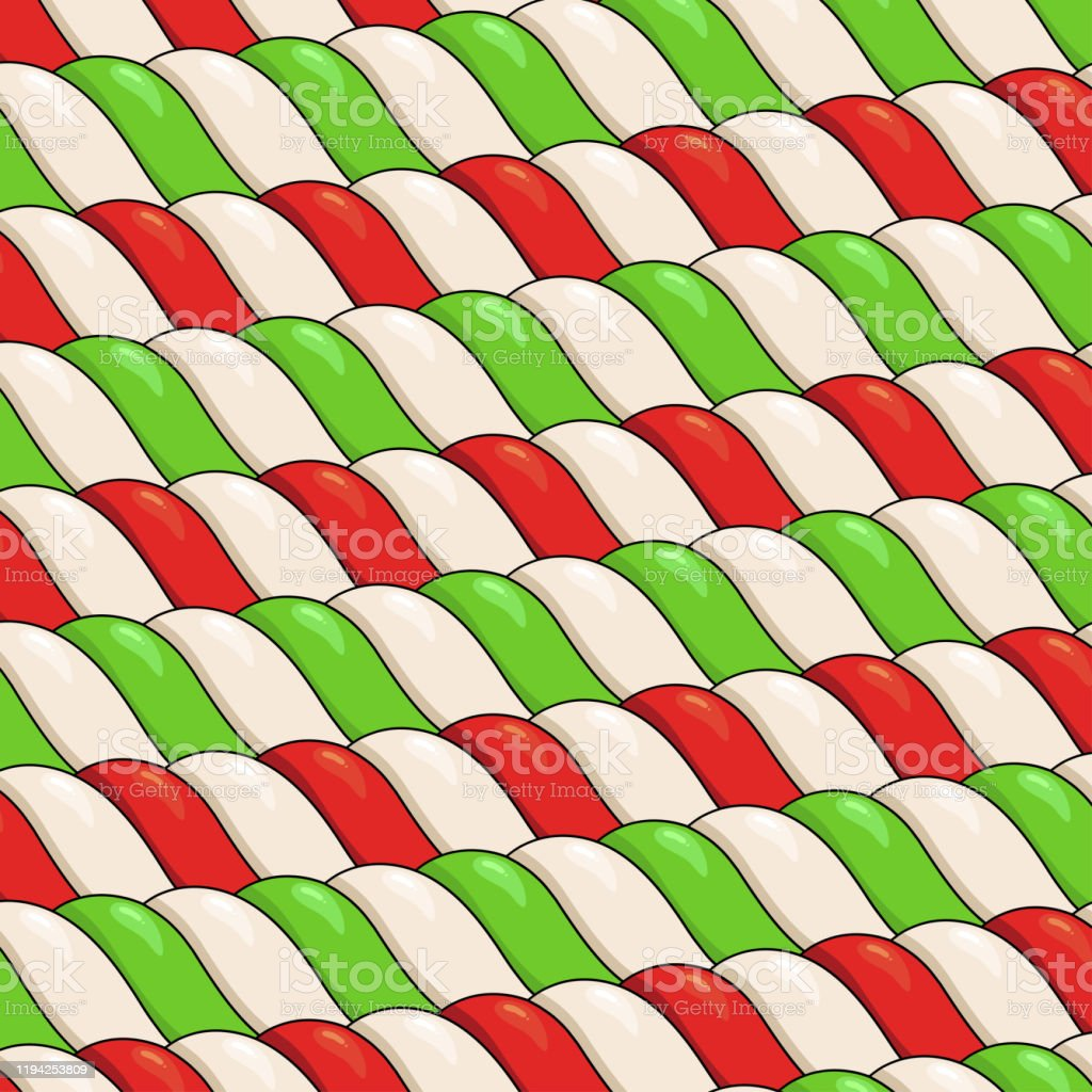 candy canes vector pattern christmas background with red green and vector id1194253809