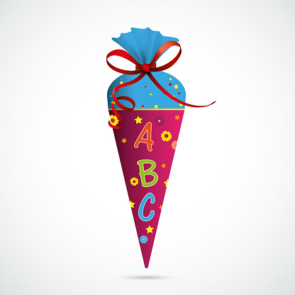 Candy Cone Red Bow