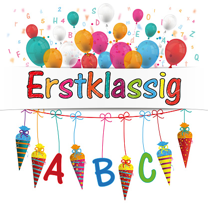 Candy Cones Banner Balloons Letters Erstklassig