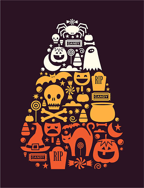 candy corn design - halloween candy stock illustrations