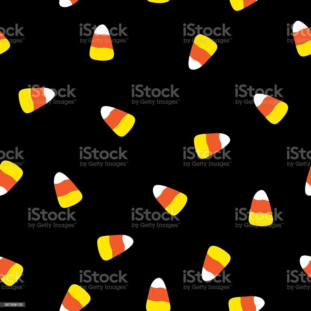 Candy Corn Pattern vector art illustration