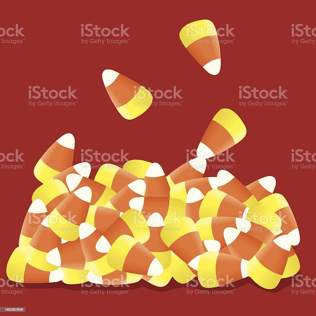 Candy Corn vector art illustration