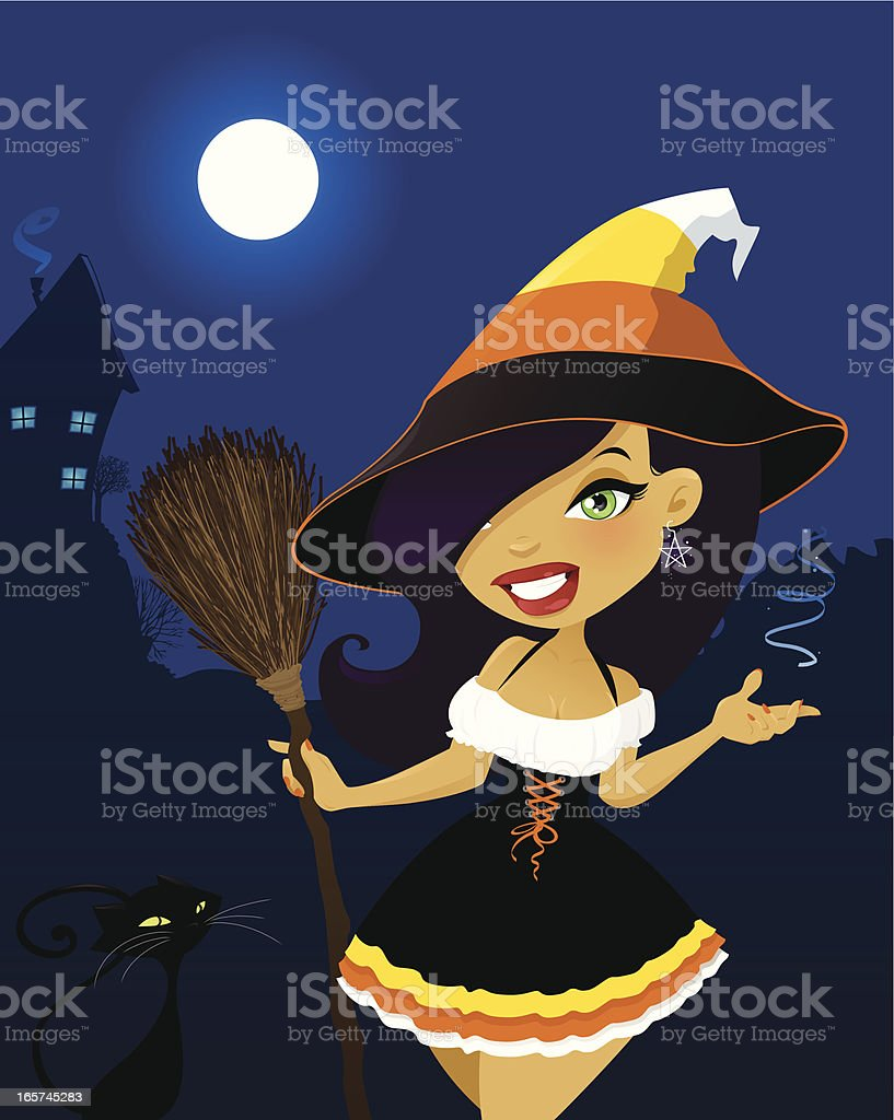 Candy Corn Witch royalty-free candy corn witch stock vector art & more images of adult