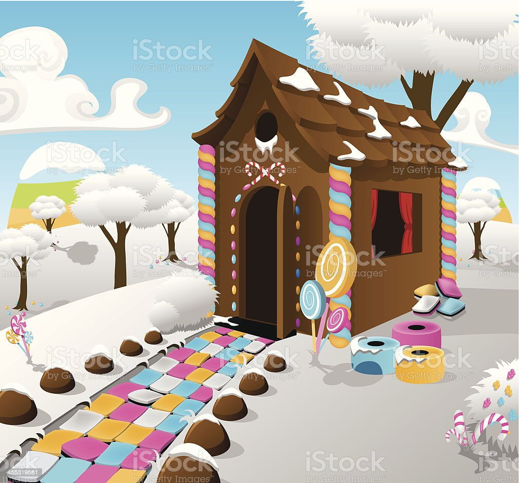 Candy Cottage royalty-free stock vector art