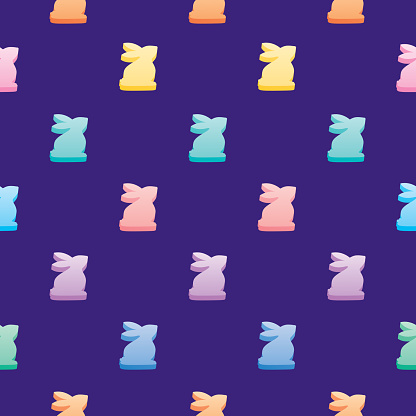 Candy Easter Bunnies Seamless Pattern