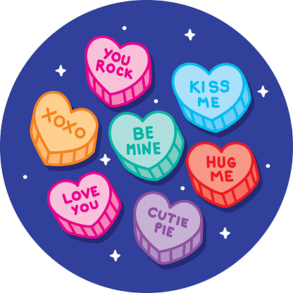 Candy Hearts Doodle 2