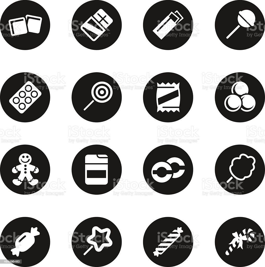 Candy Icons Set 1 - Black Circle Series vector art illustration