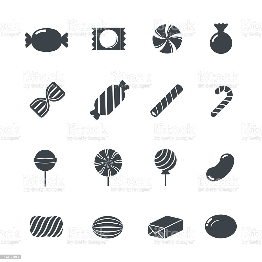 Candy Icons. vector art illustration