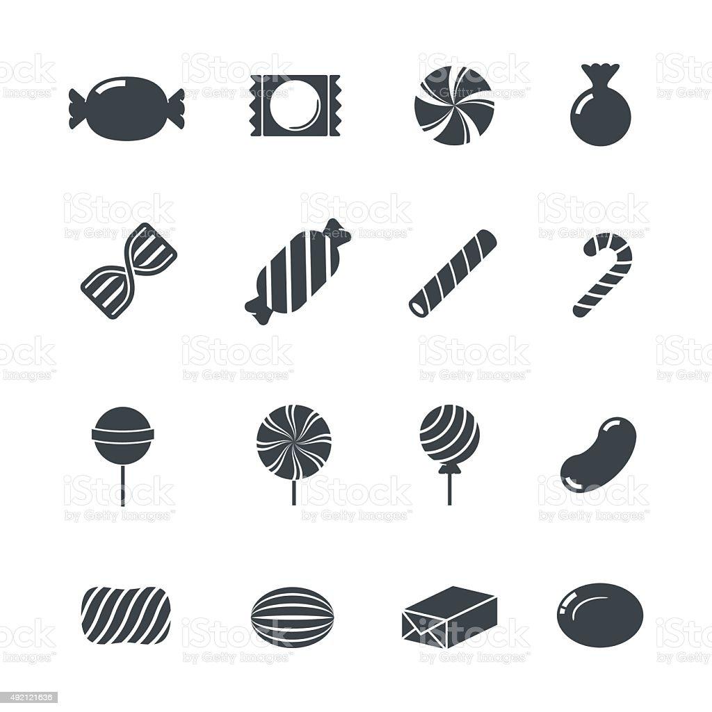 Icônes de bonbons. - Illustration vectorielle