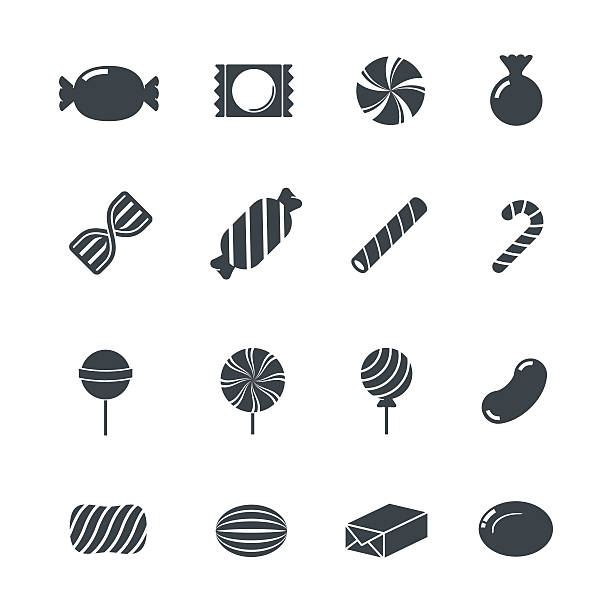 Candy Icons. Candy Icons. candy silhouettes stock illustrations