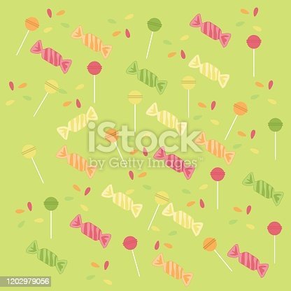 istock Candy Patterns Vector 1202979056