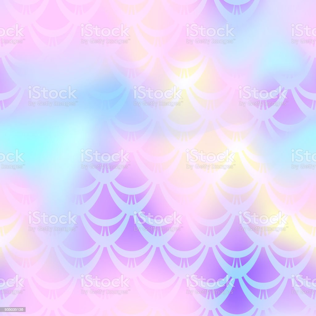 Candy pink mermaid skin vector background. Multicolored iridescent background. vector art illustration