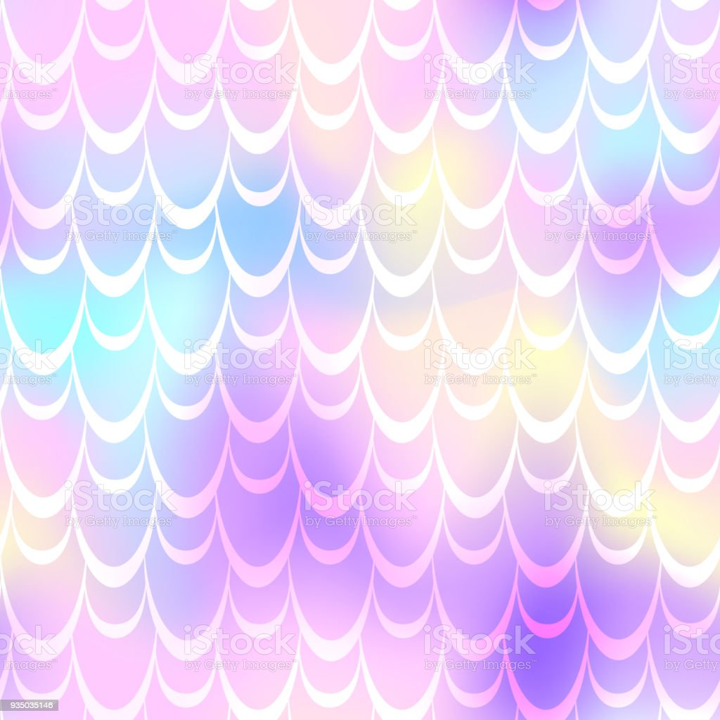 Candy pink mermaid vector background. Multicolored iridescent background. vector art illustration