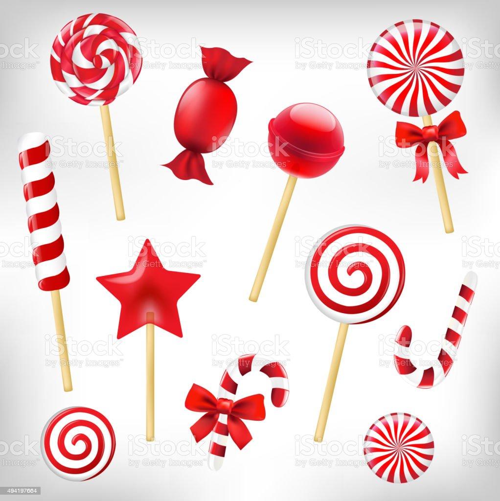 Ensemble de bonbons - Illustration vectorielle