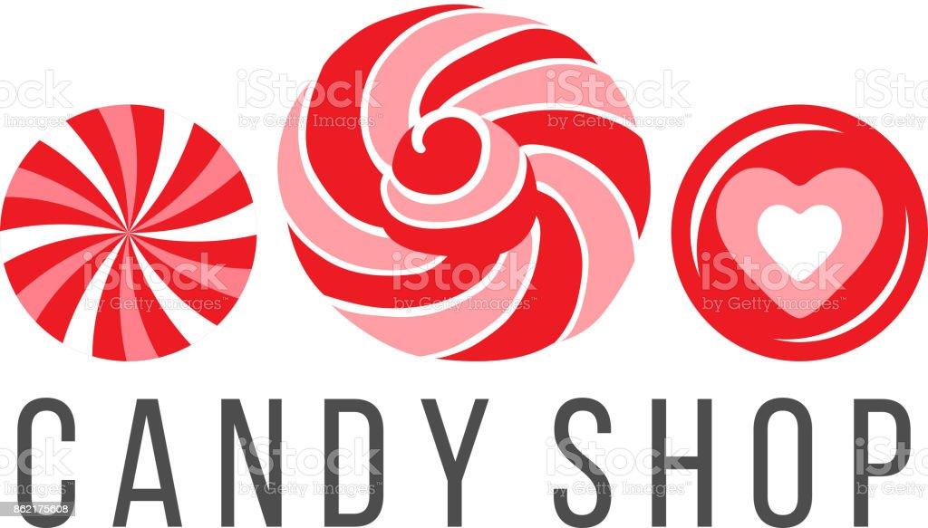 Candy Shop Logo Cliparts Vectoriels Et Plus Dimages De Abstrait