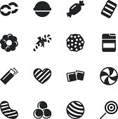 Candy Silhouette Vector EPS10 File Icons Set 4.