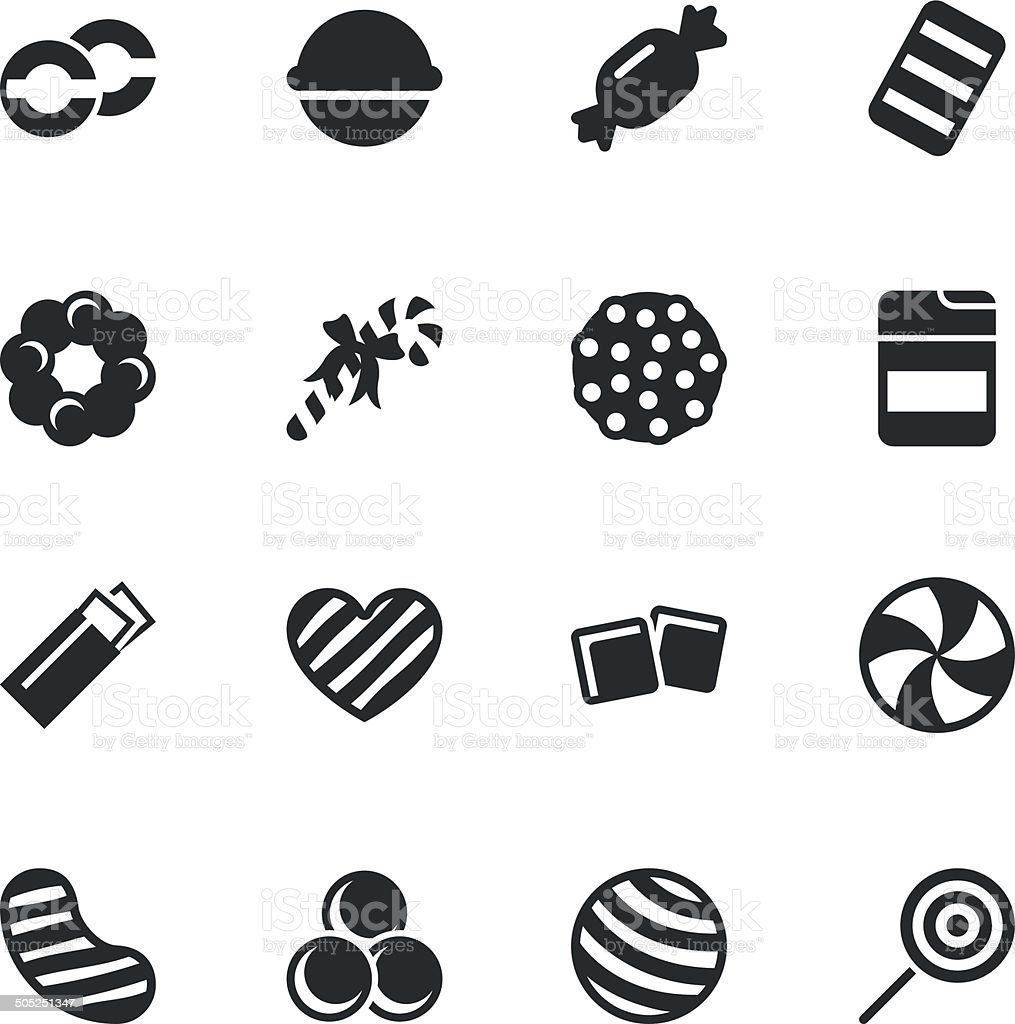 Candy Silhouette Icons | Set 4 vector art illustration