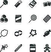 Candy Silhouette Vector File Icons.