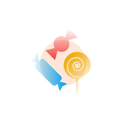 Candy. Vector icon in gradient style. Editable illustration