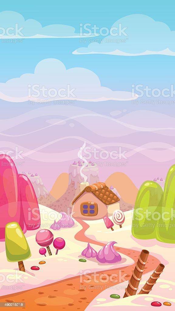 Candy world illustration vector art illustration
